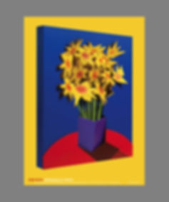 Adam Neate, street artist, Dimensional Daffodils, for sale