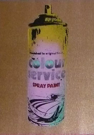Nick Walker, artist, Spray Can Gold, original, for sale