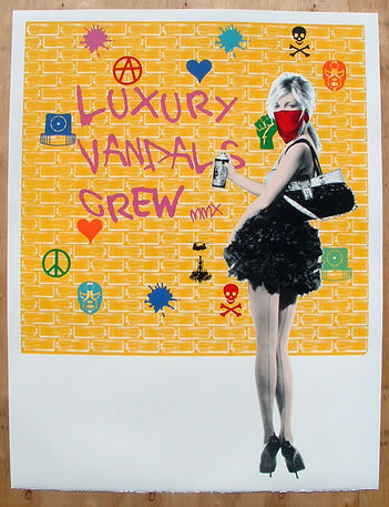 Static, artist, Luxury Vandals - Kate, signed screenprint, for sale
