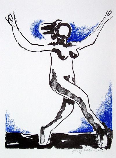 Josef Herman, Life Dance, screenprint for sale