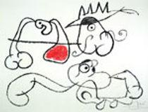 Joan Miro, artist, Ubu aux Baleares, lithograph for sale