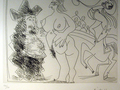 Pablo Picasso, 367 Series - Circus, signed lithograph for sale