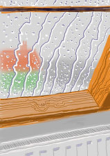 hockney ` rain on studio window` sold.jp
