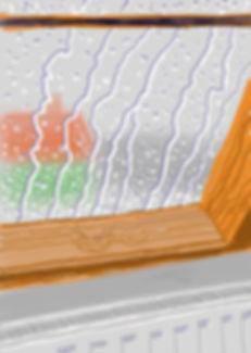 hockney ` rain on studio window` sold.jp