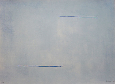 William Scott, artist, Blue Field, lithograph for sale