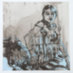 Swoon, artist, Argentina, etching screenprint, for sale