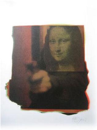 Nick Walker, artist, Mona Shot, screenprint for sale
