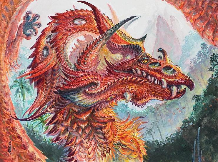 ORIGINAL ~ Tropical Phoenix Dragon