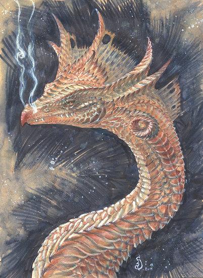 ORIGINAL ~ Galaxy Dragon with a *splash of chia
