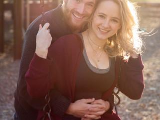 Ella & Christopher: Ewing Park Engagement
