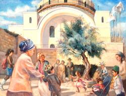 Hurva Synagogue on Purim