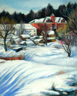 Snow Blankets the Village