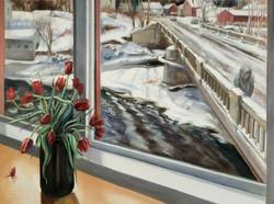 Tulips and Ice-Bound Bridge