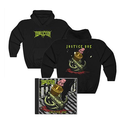 Dereliction | Justice Due - Hoodie & CD Bundle