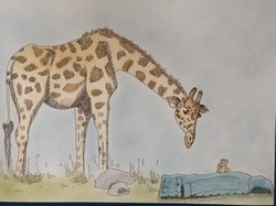 Giraf en martin muis