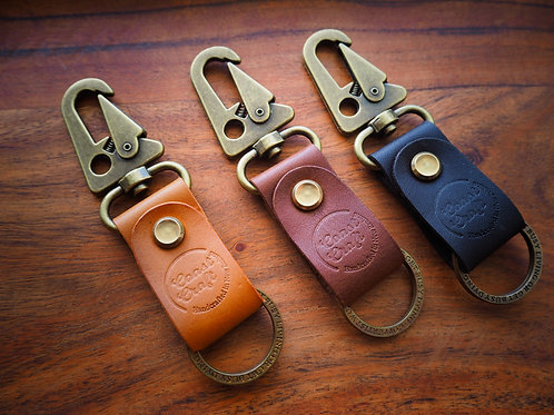 Strong Leather Keyclip With Keyring