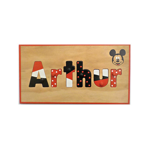 Micky Mouse Name Puzzle