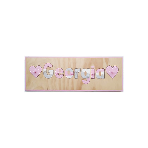 Heart Name Puzzle
