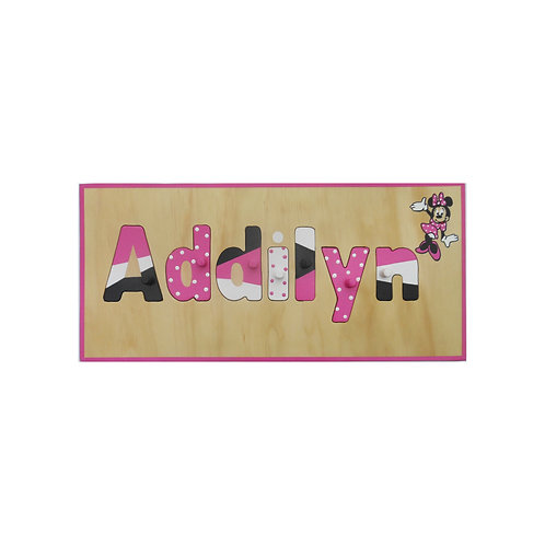 Minnie Mouse Name Puzzle
