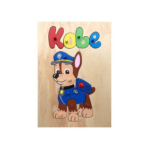 Dog Cartoon Name Puzzle