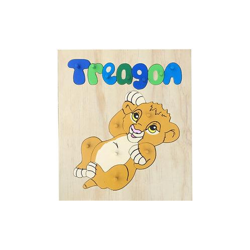 Lion Cub Name Puzzle