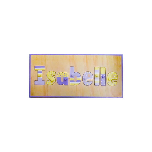 Pastel patterned Name Puzzle