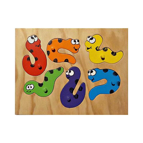 Rainbow Worm Puzzle