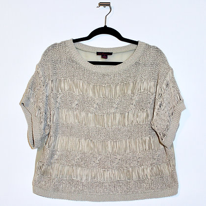 Tropical Breezy Taupe Crop Top Xlarge