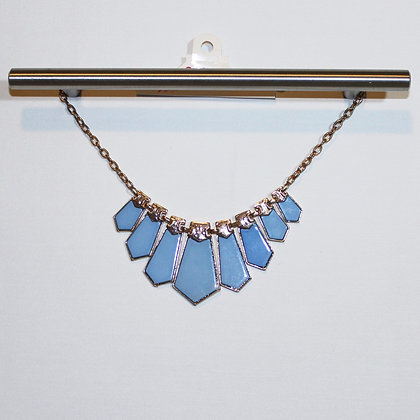 Gorgeous Blue and Gold Statement Necklace NWT