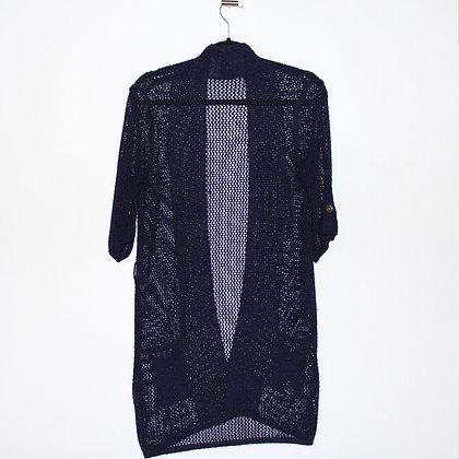 Navy Blue Knit Cardigan Medium