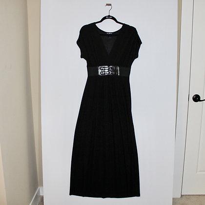 Black Maxi Dress with Buckle Belt Size Medium