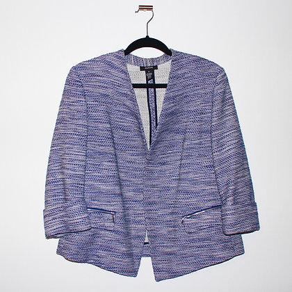 Alfani Blazer Faux Tweed Blue Size Medium (8)