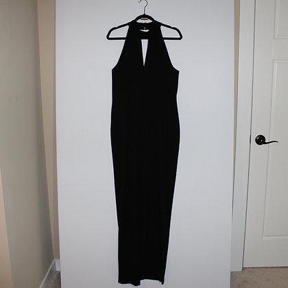 Calvin Klein Womens Keyhole Mock Neck Gown Dress