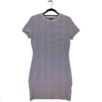 H&M Body Con Striped Dress