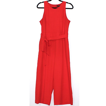 Banana Republic Cropped Wide-leg Jumpsuit Red 12P