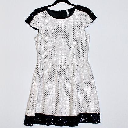 Kensie Dotted Mini Dress w Sequins Size Medium
