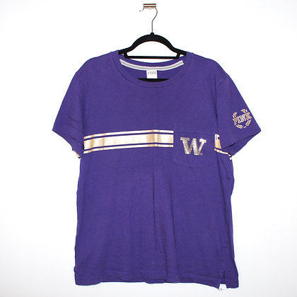 UW Huskies Loyal To The Pack Purple Gold Shirt Med