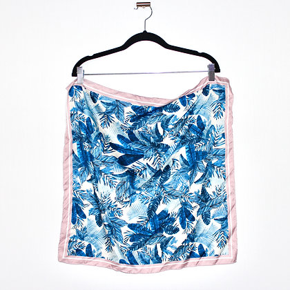KOTON Pink and Blue Tropical Neck Scarf
