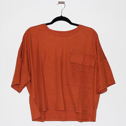 KOTON Orange Terracotta Crop Tshirt XLarge