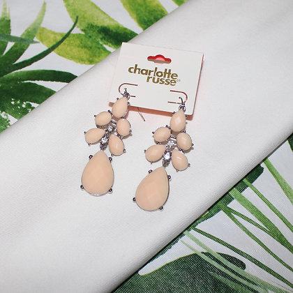 Pink Large Charlotte Russe Drop Earrings