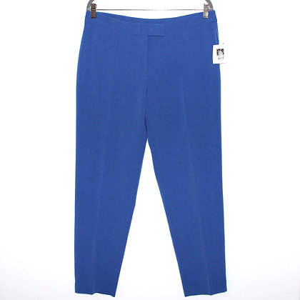 Anne Klein Blue Tapered Pant Size 10