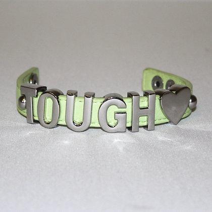 BCBG Tough Love Green and Silver Bracelet