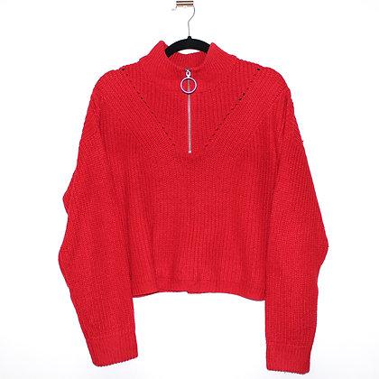 H&M Red Crop Sweater Medium