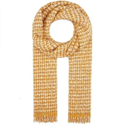 Mavi Jeans Yellow and Silver Knit Scarf Wrap