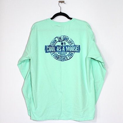 Cool as a Moose Canada Green Long Sleeve Tee Large