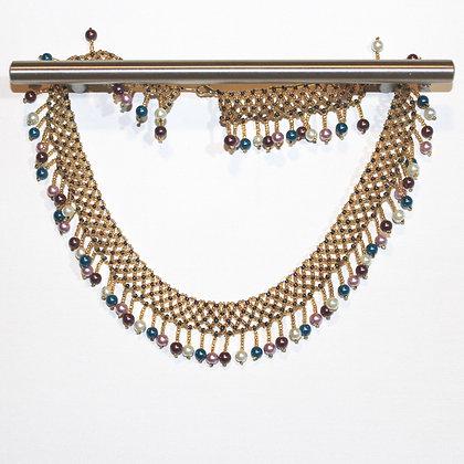 Handmade Beautiful Collar Necklace Gold Tones