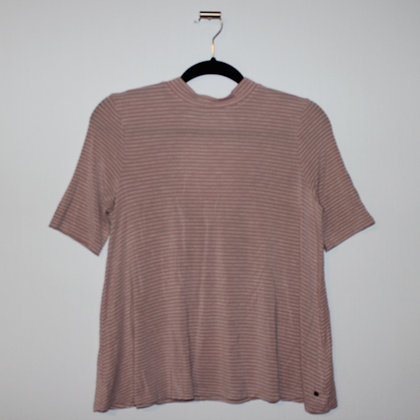 American Eagle Outfitters Pink Striped Cutout Top