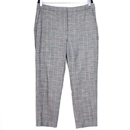 Tapered Grey Plaid Pant size 10