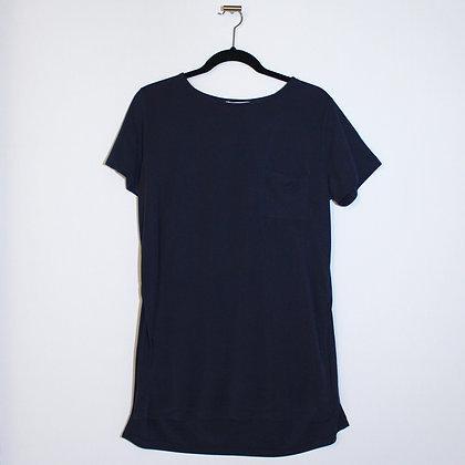 KOTON Dark Blue Side Slits T-Shirt Large