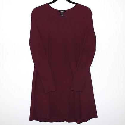Maroon Red Long Sleeve Mini Dress Size XLarge
